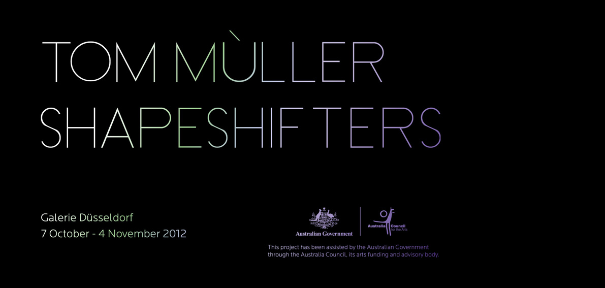 Tom Mùller exhibition 2012